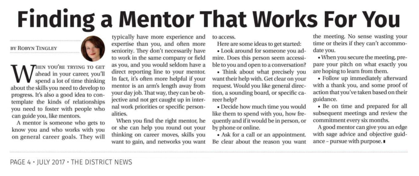 Finding A Mentor That Works For You