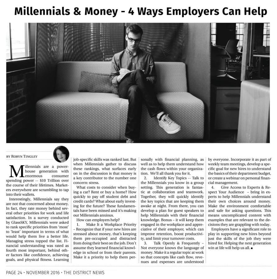 Millennials & Money – 4 Ways Employers Can Help